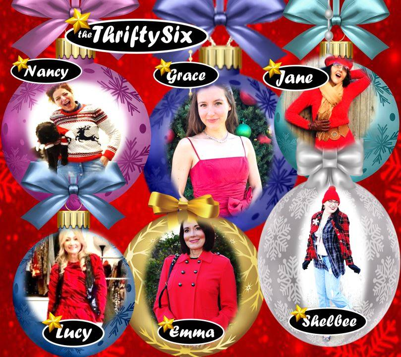 Red-y For the Holiday Season - The Thrifty Six December collage