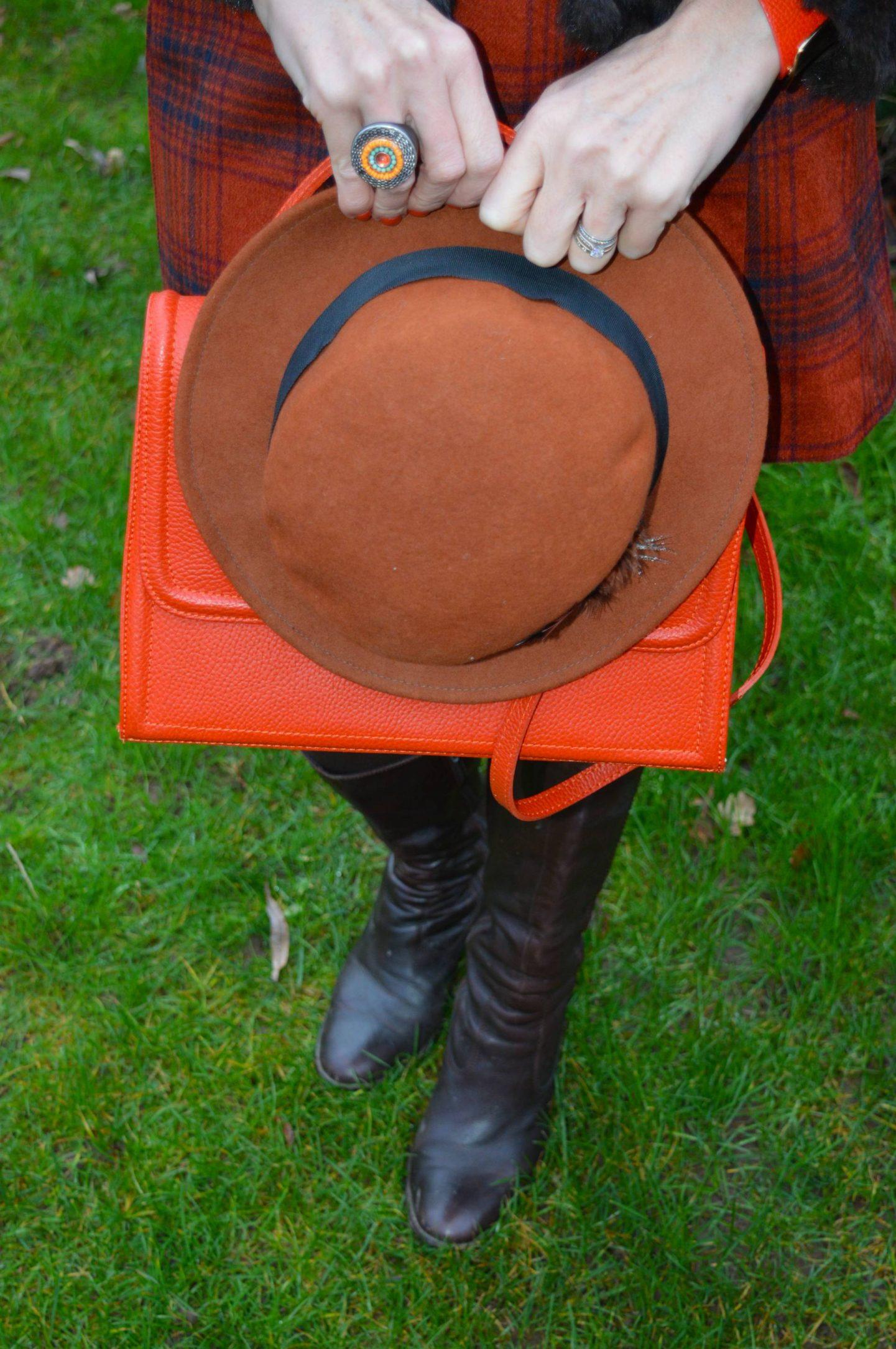 Asos brown hat