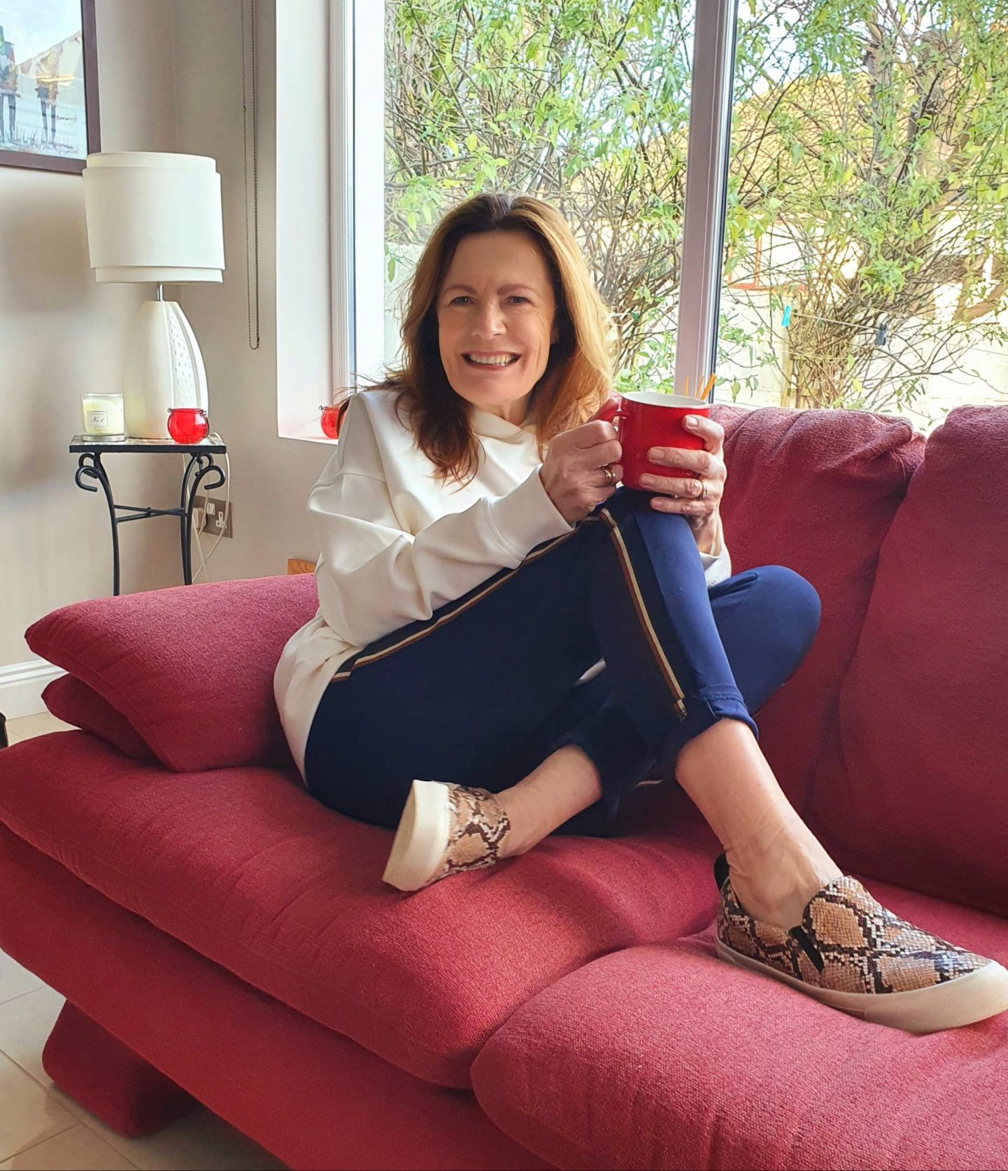 Lounging at Home - January's Style Not Age, Hilda Smith