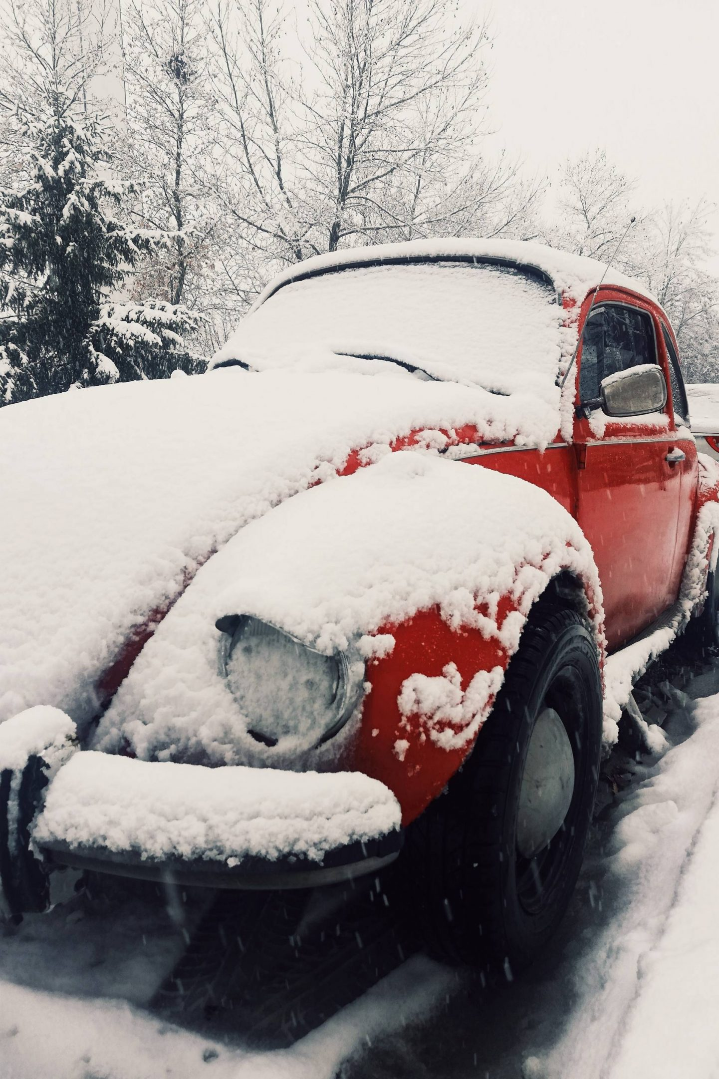 Essential Car Maintenance Tips For Winter, VW Beetle in the snow