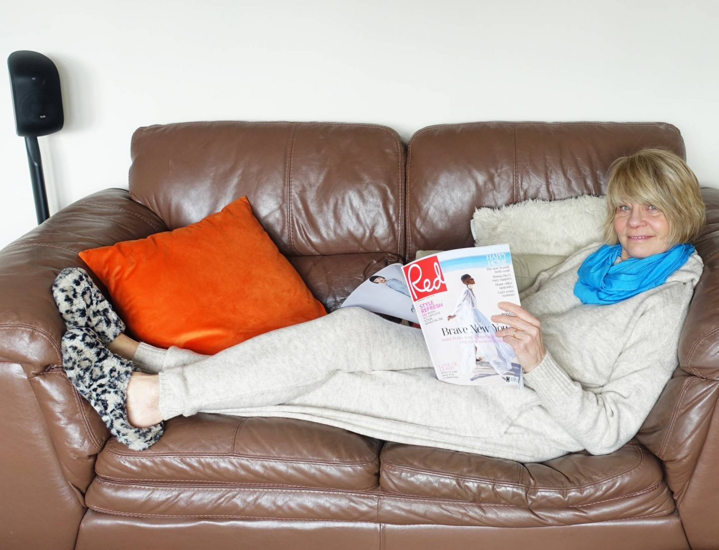 Lounging at Home - January's Style Not Age, Gail Hanlon