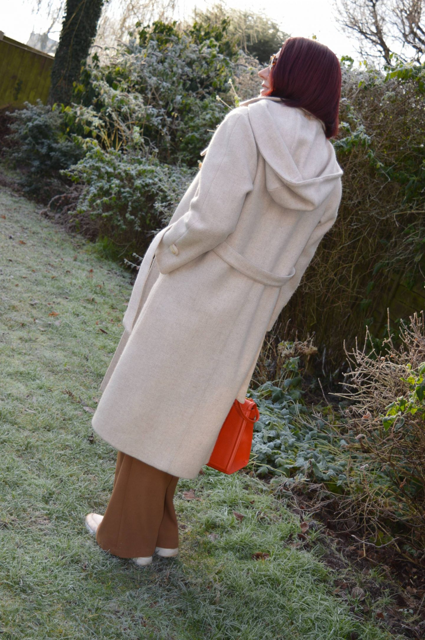 Chic and Cozy Coats, vintage C&A cream hooded coat