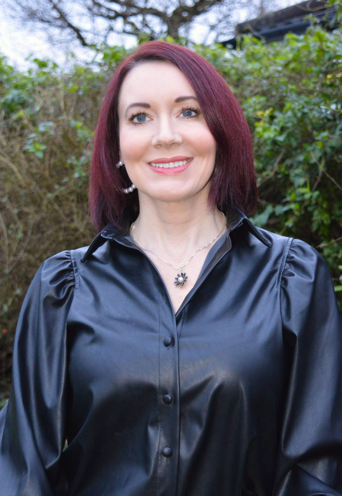Styling Leather and Pleather - January's Thrifty Six Collaboration, New Look faux leather shirt