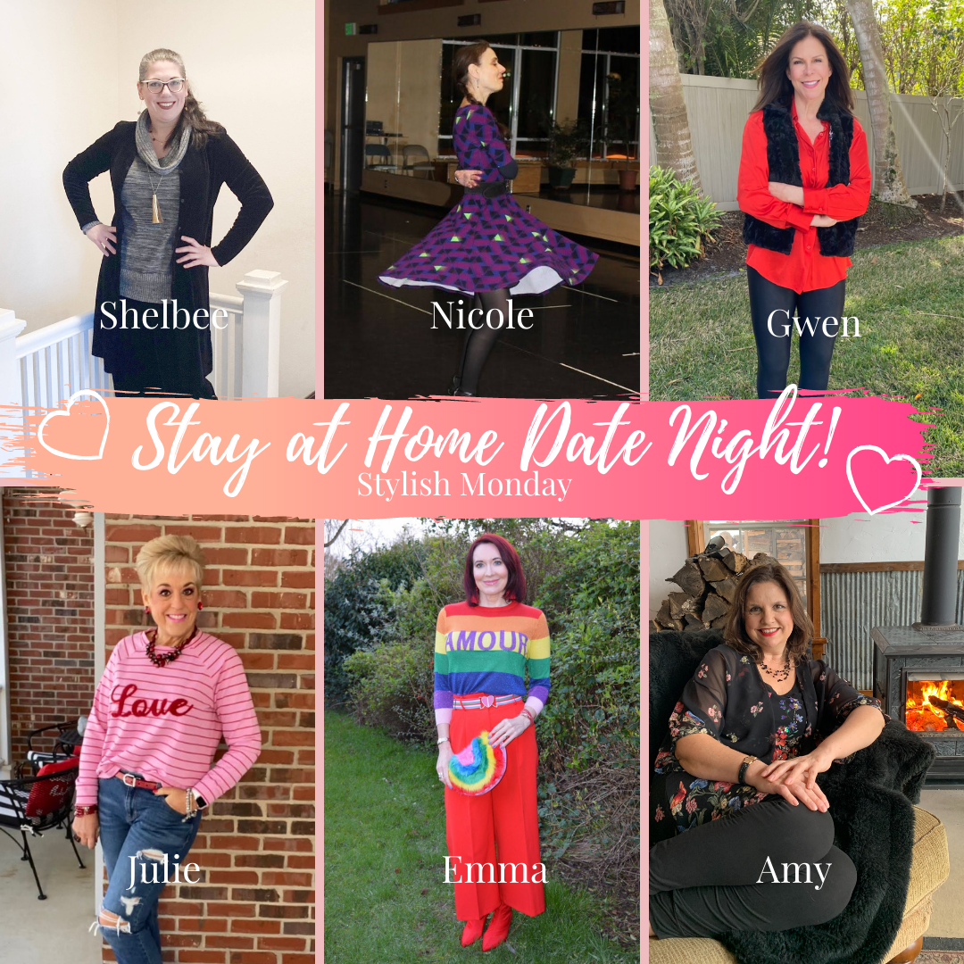 Date Night at Home For Valentine's Day - February's Stylish Monday Link Up collage