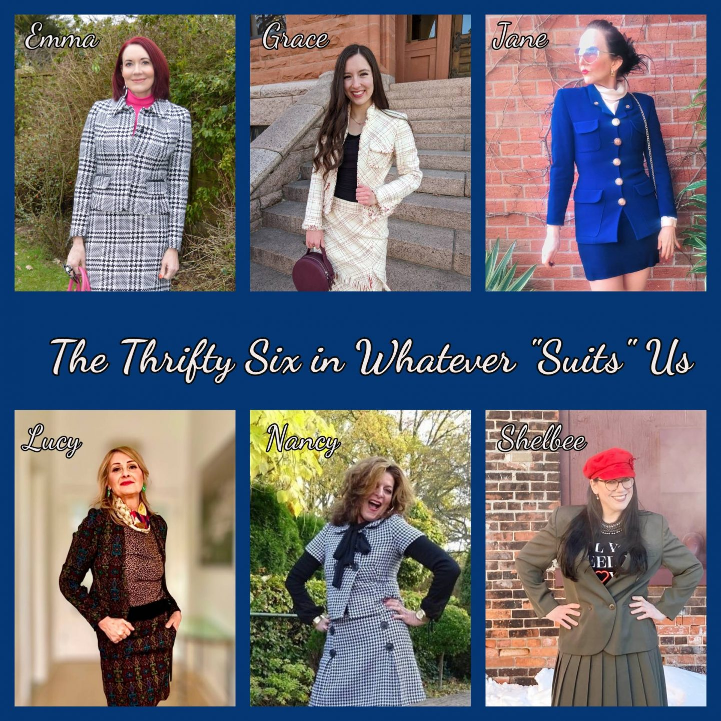 Styling Our Pre-loved Suits - February's Thrifty Six Challenge