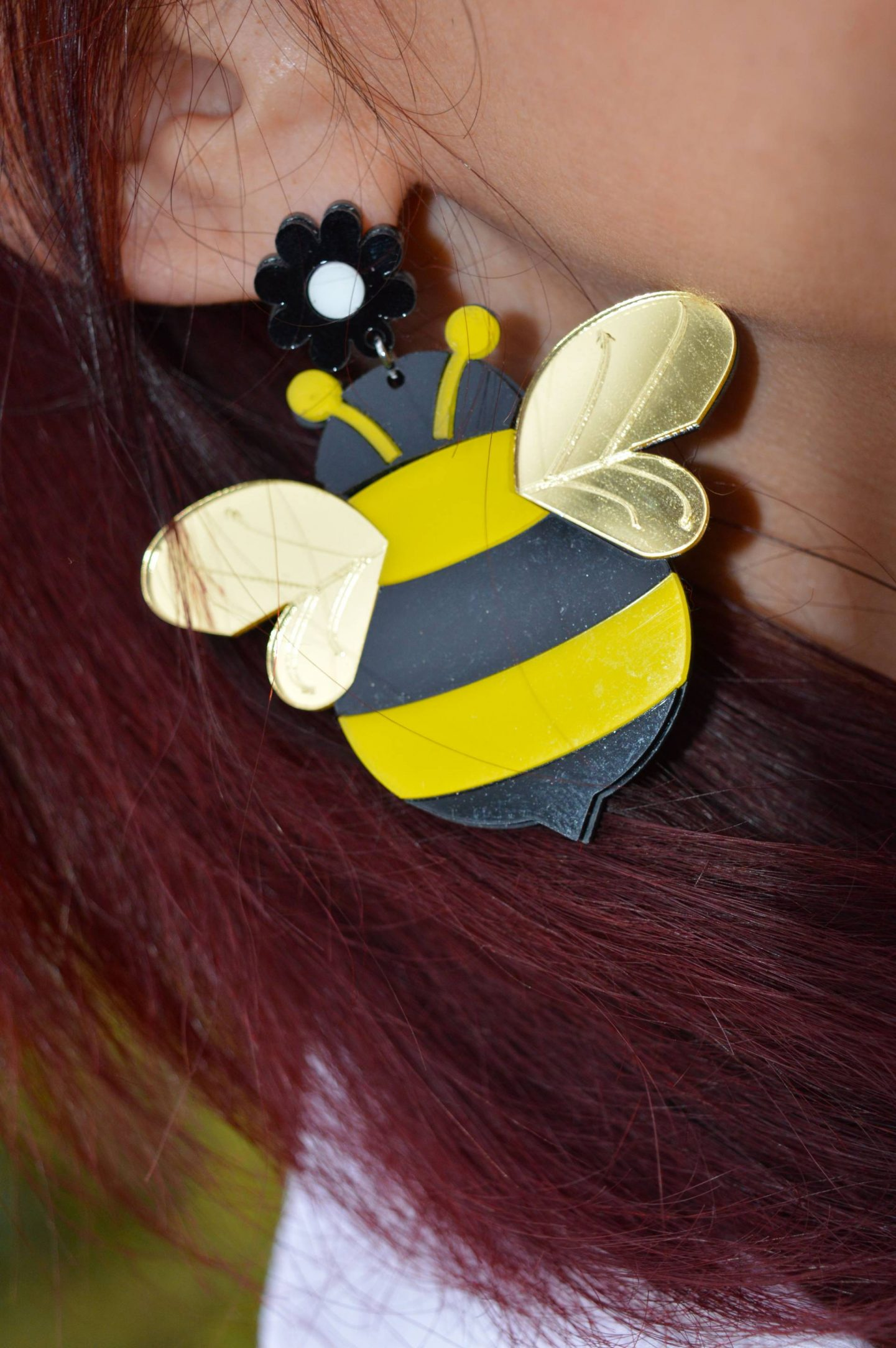 acrylic bee earring