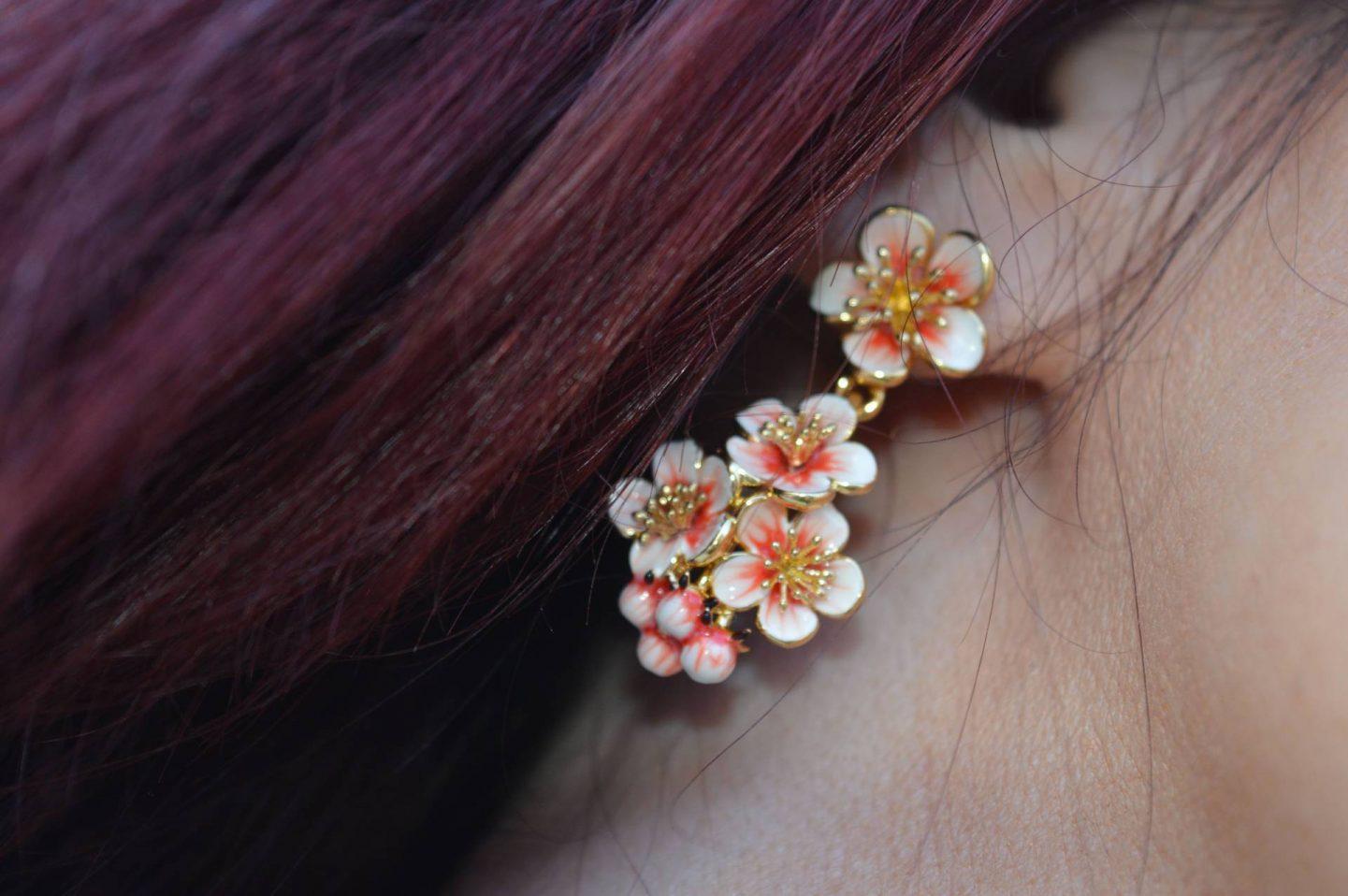 Bill Skinner blossom earrings