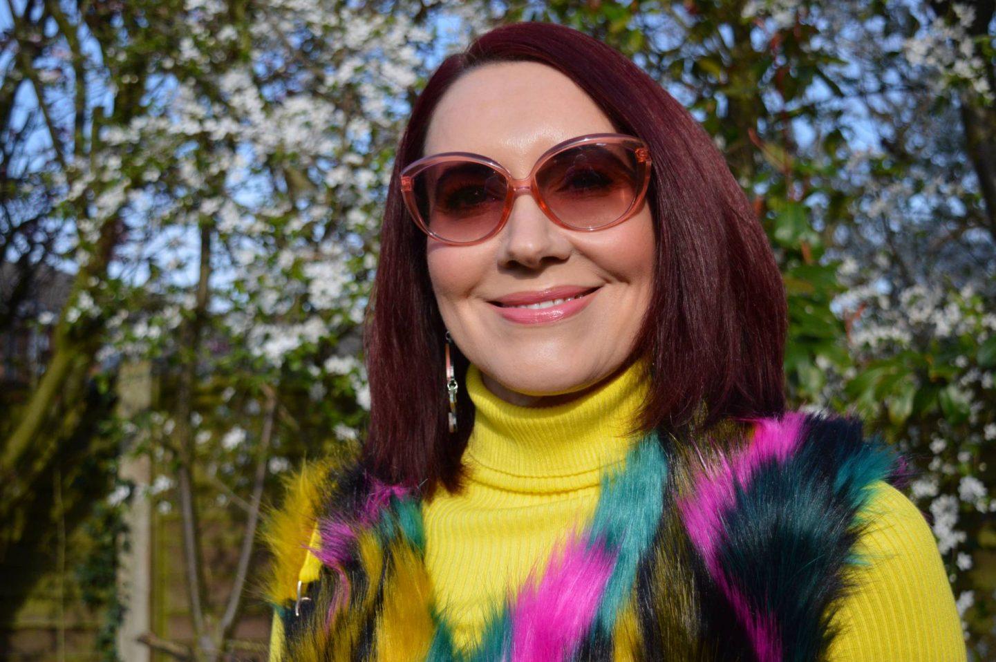 Moschino pink cat eye sunglasses