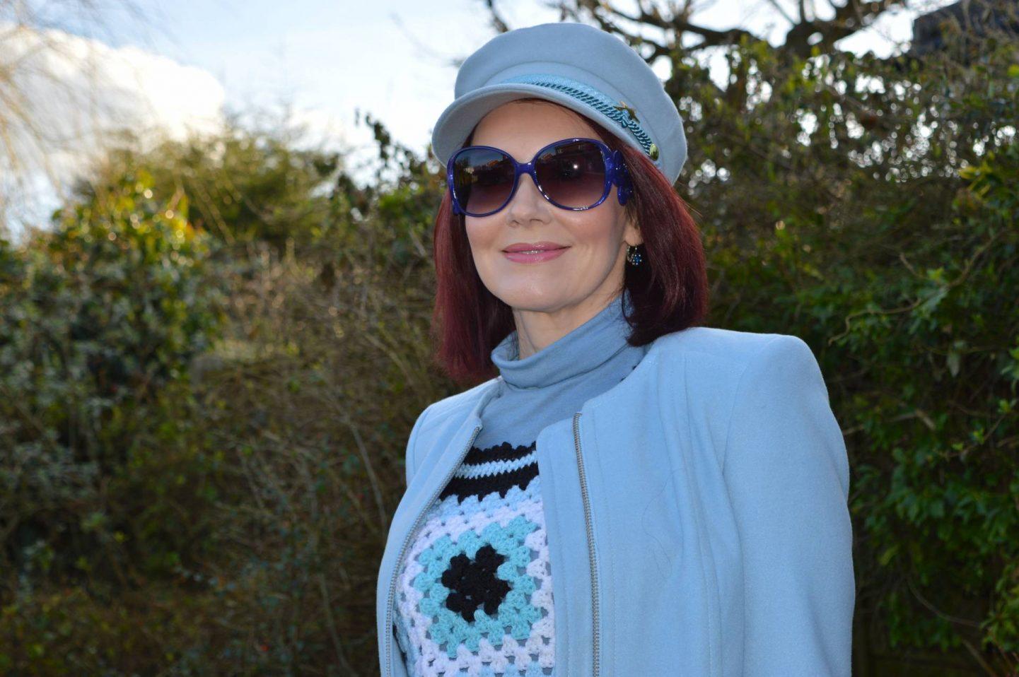 Fabienne Chapot pale blue hat