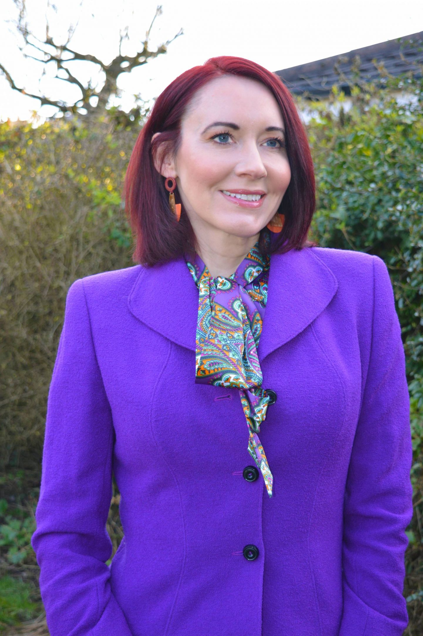 """We Are Trail """"Blazers"""" - March Thrifty Six Collaboration, Escada jacket, River Island orange trousers"""