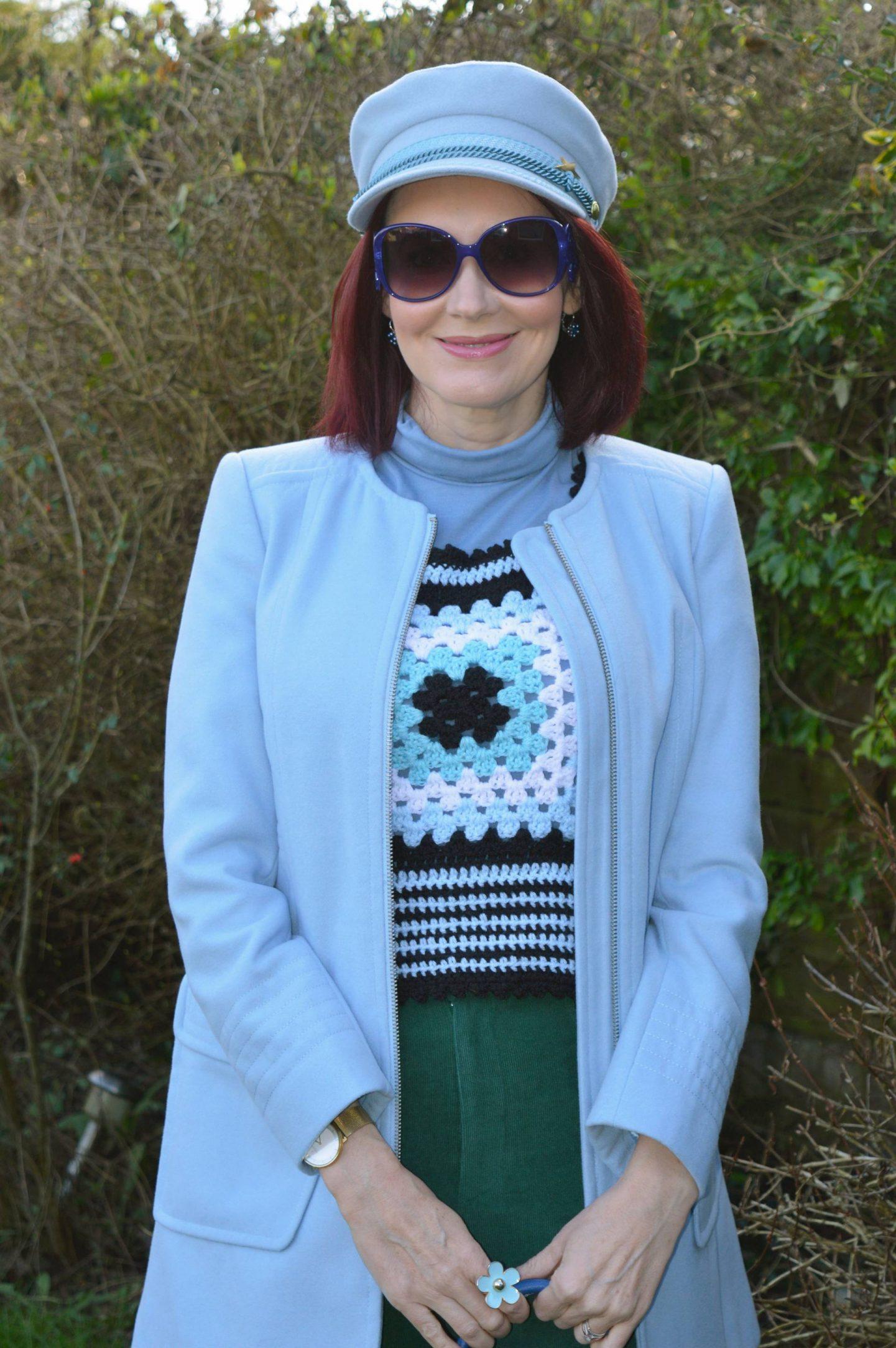 Fabienne Chapot pale blue cap