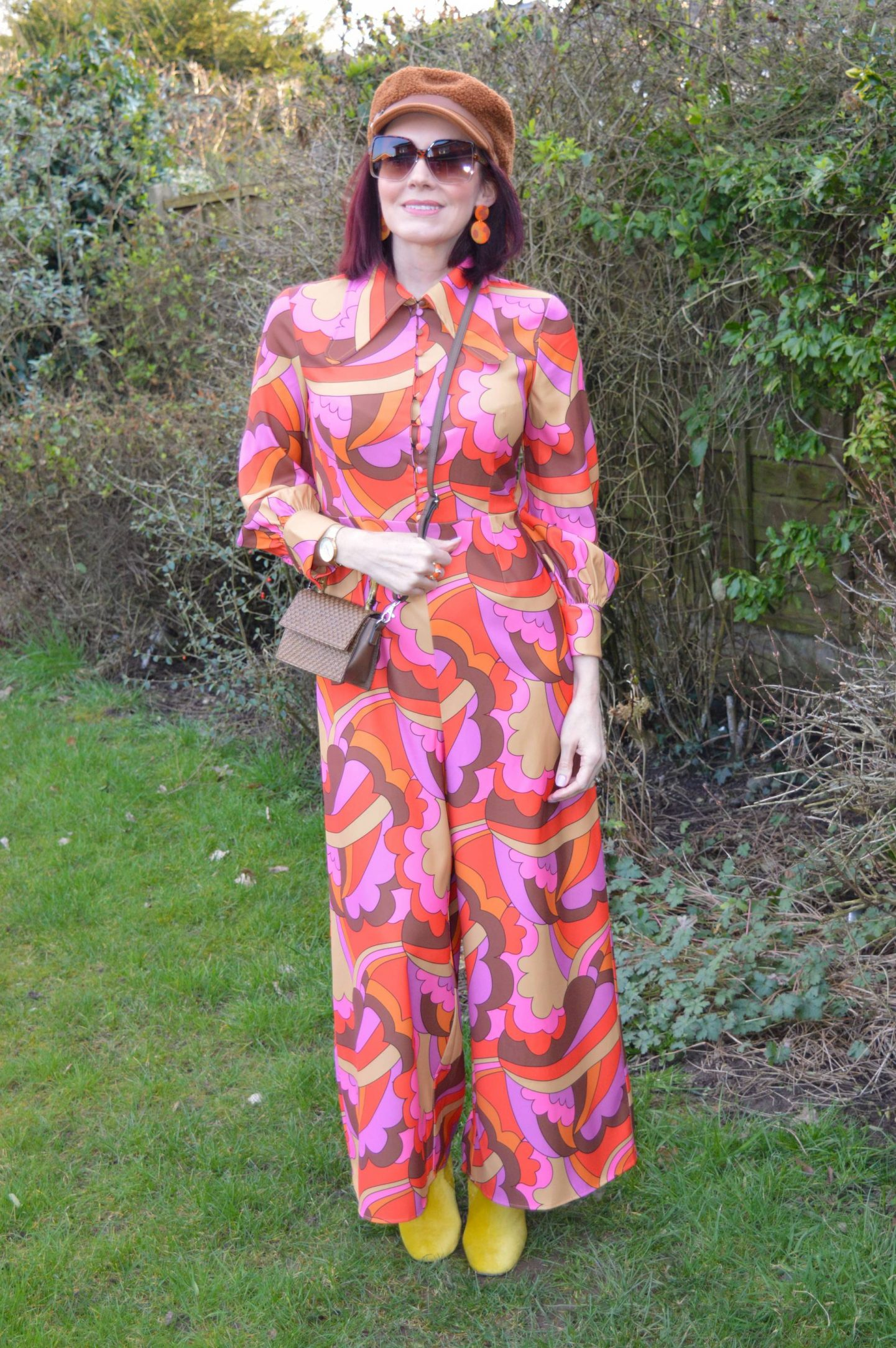 The Hippie Shake Edie Psychedelic Wide Leg Jumpsuit