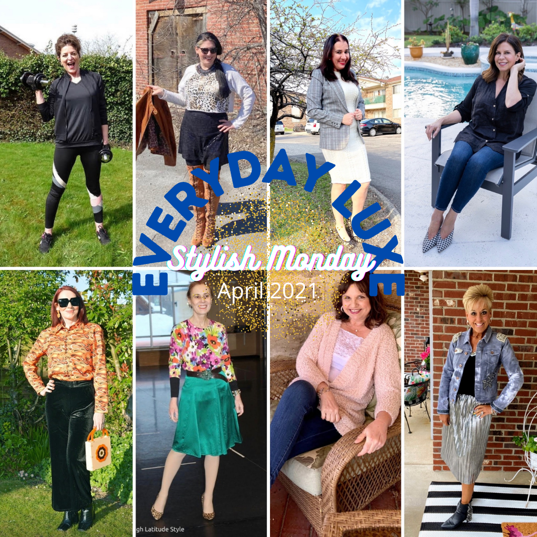 Wearing Our Everyday Luxe - April Stylish Monday Link Up collage