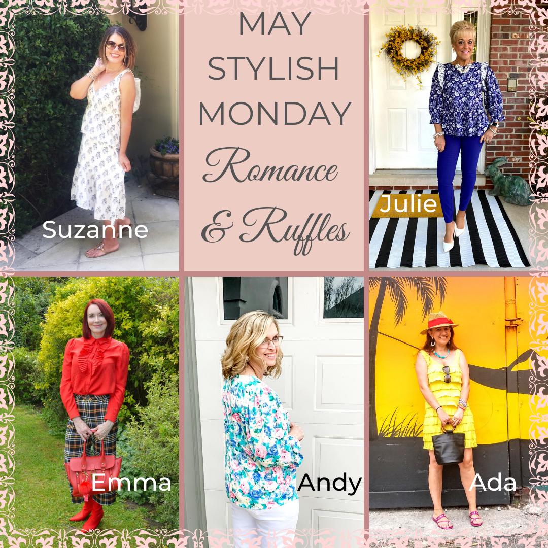 Romance and Ruffles Stylish Monday collage