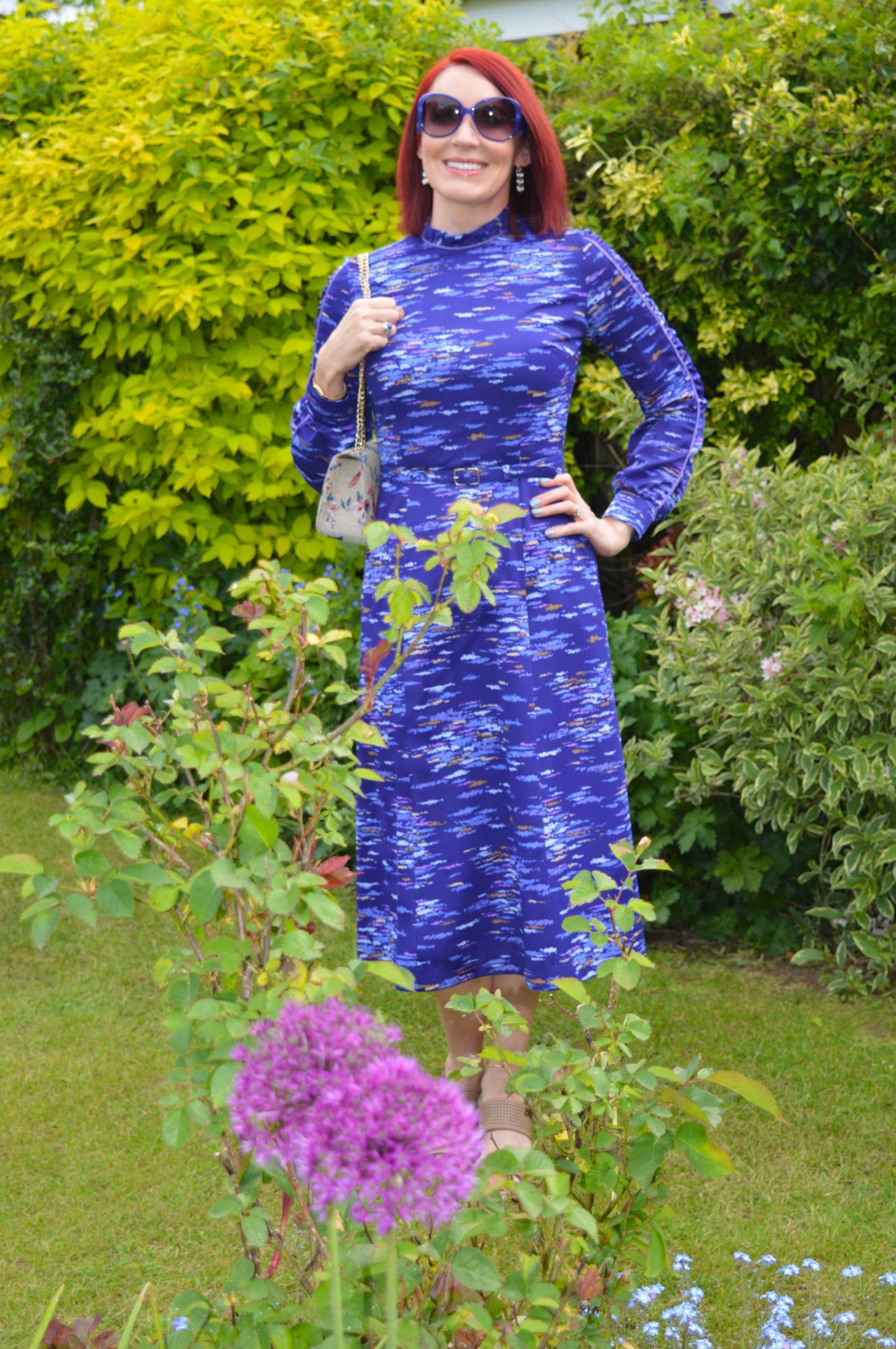 Inspired by the Sky and Sea - May's Style Not Age, blue vintage dress