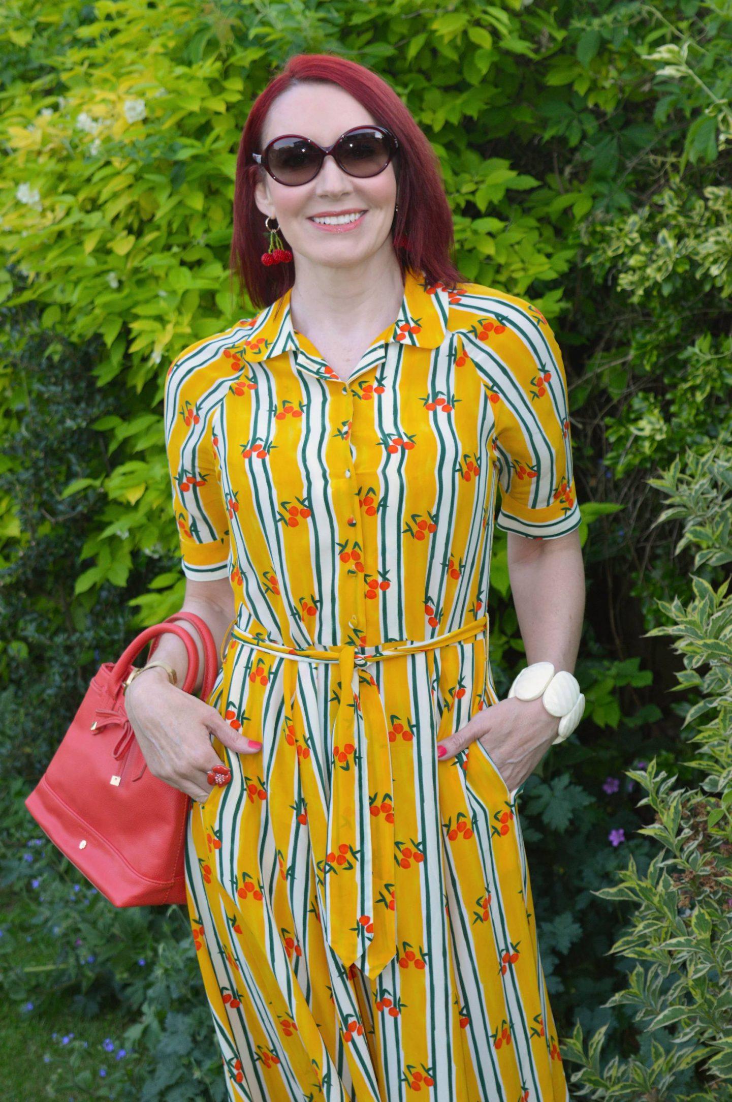 Feeling Fresh and Fruity - June's Stylish Monday, Fabienne Chapot Brizo stripe shirt dress