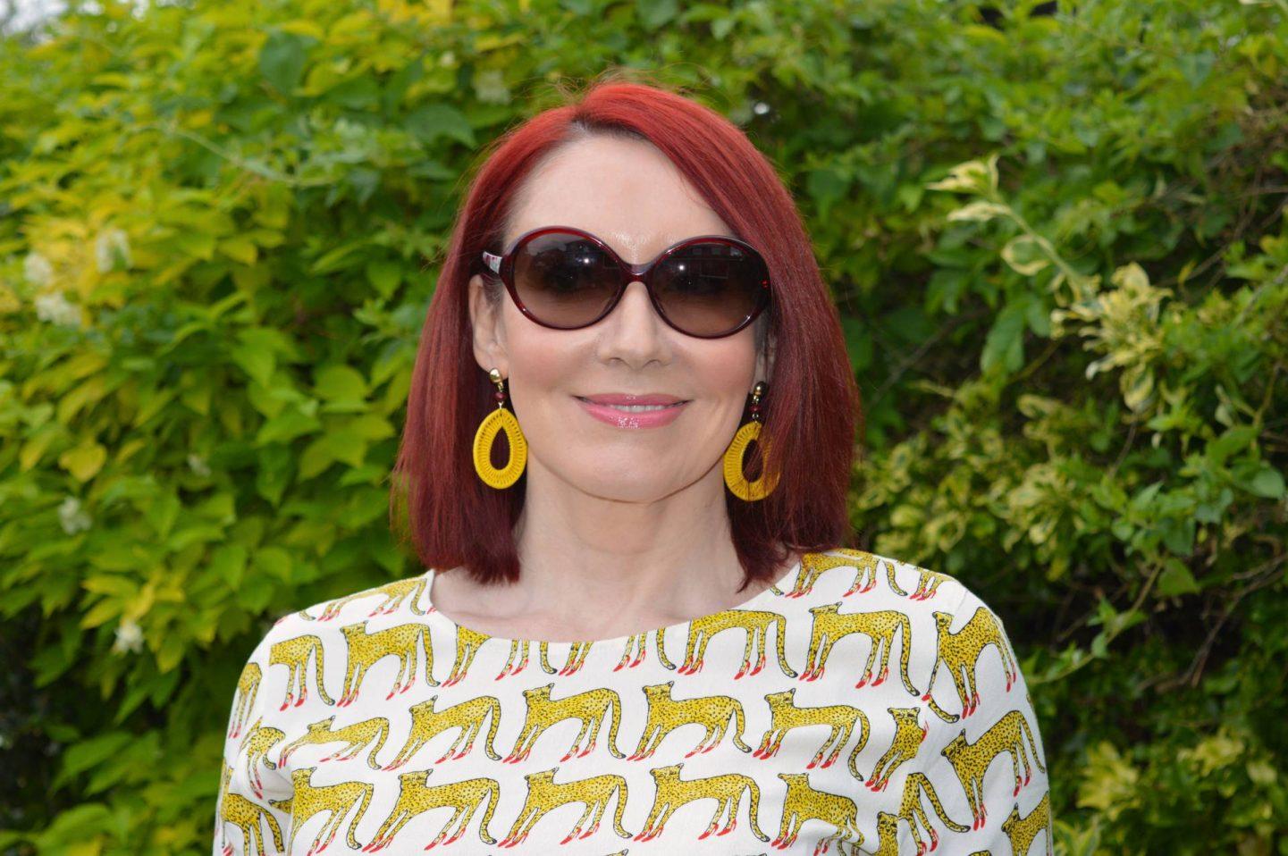 Fabienne Chapot cheetah print top, Asos red culottes