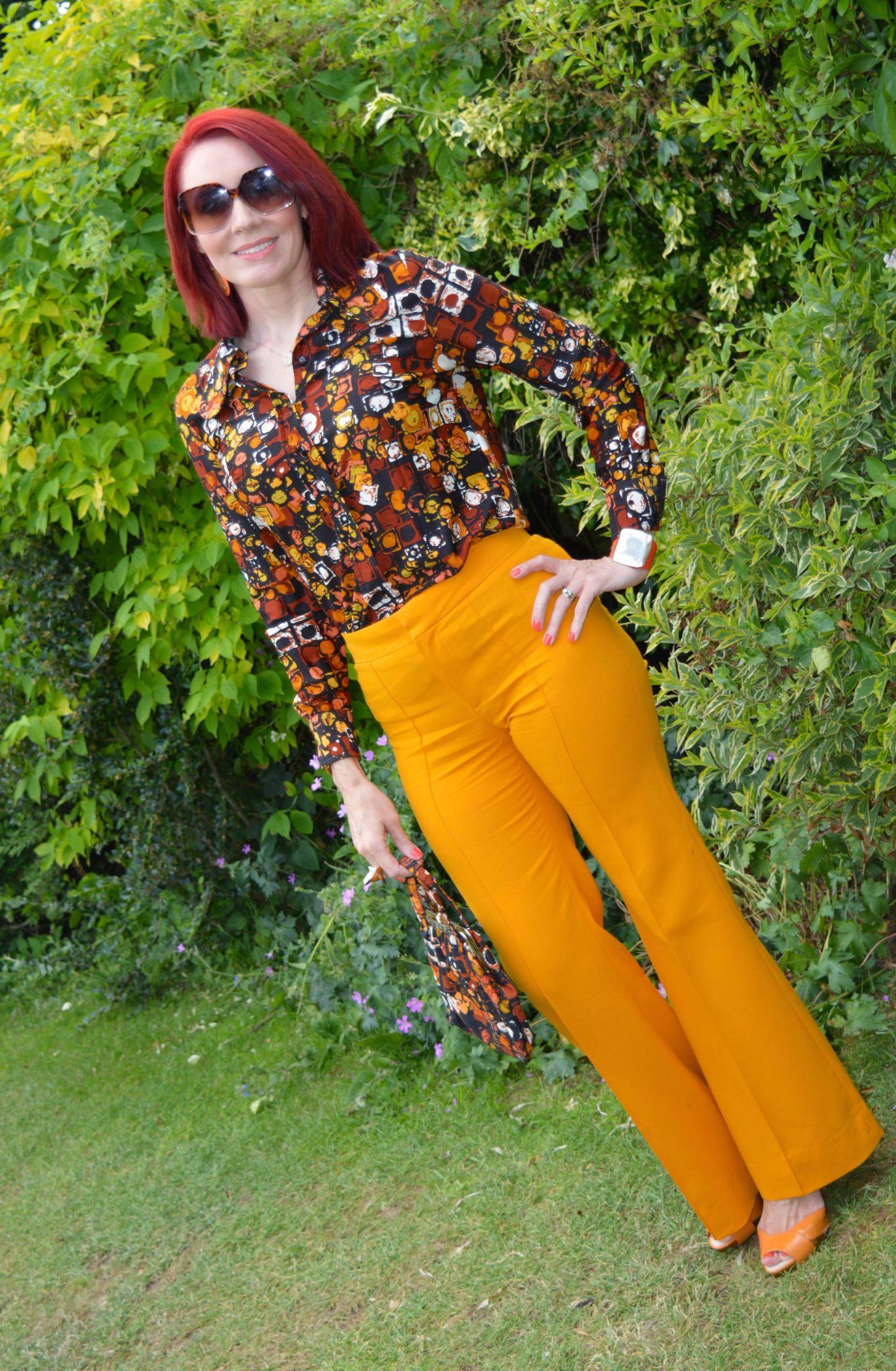 Matching Vintage Shirt and Bag, marigold Zara trousers