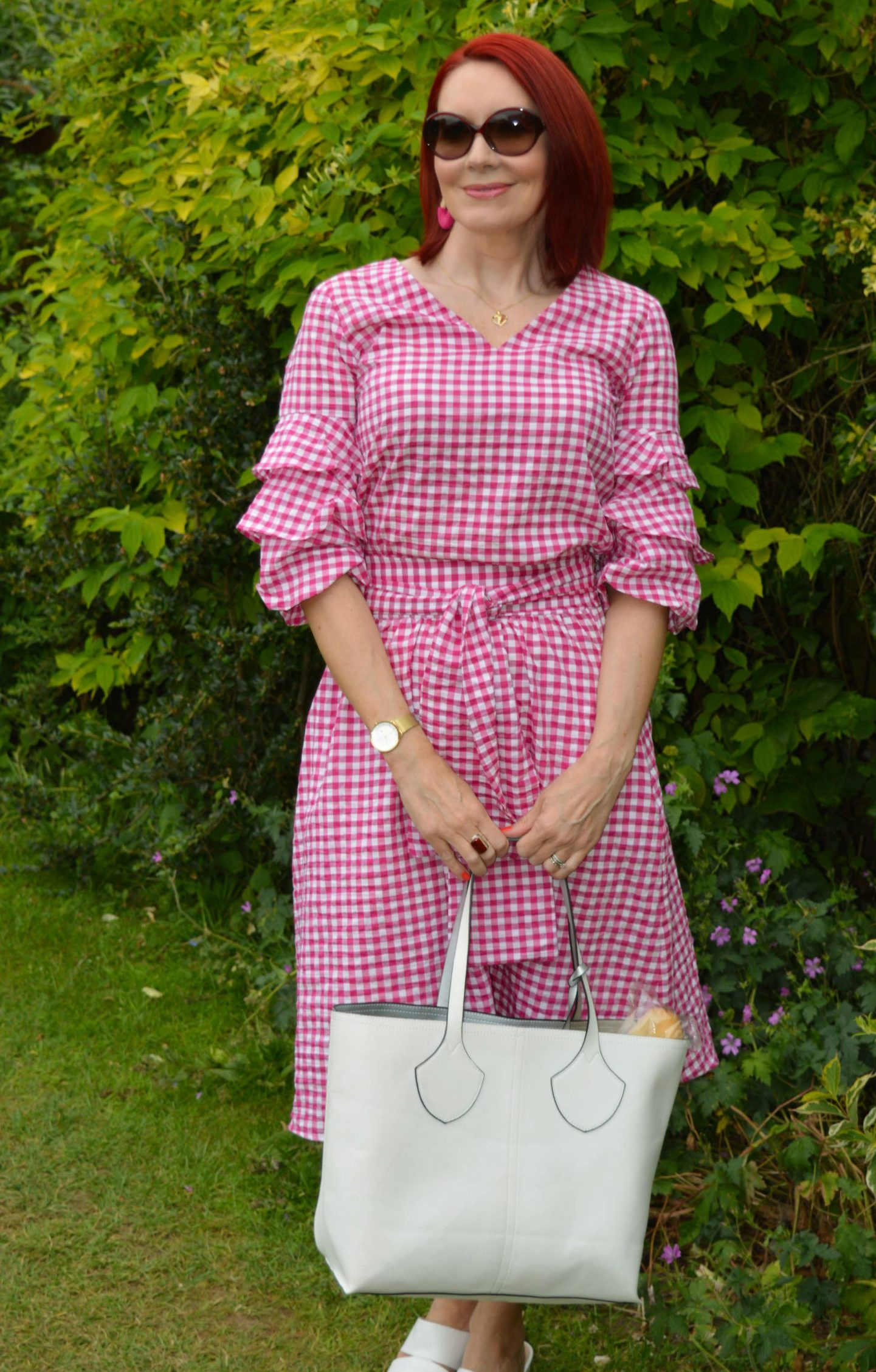 Dressed For a Picnic - June's Style Not Age, Zara gingham skirt and top