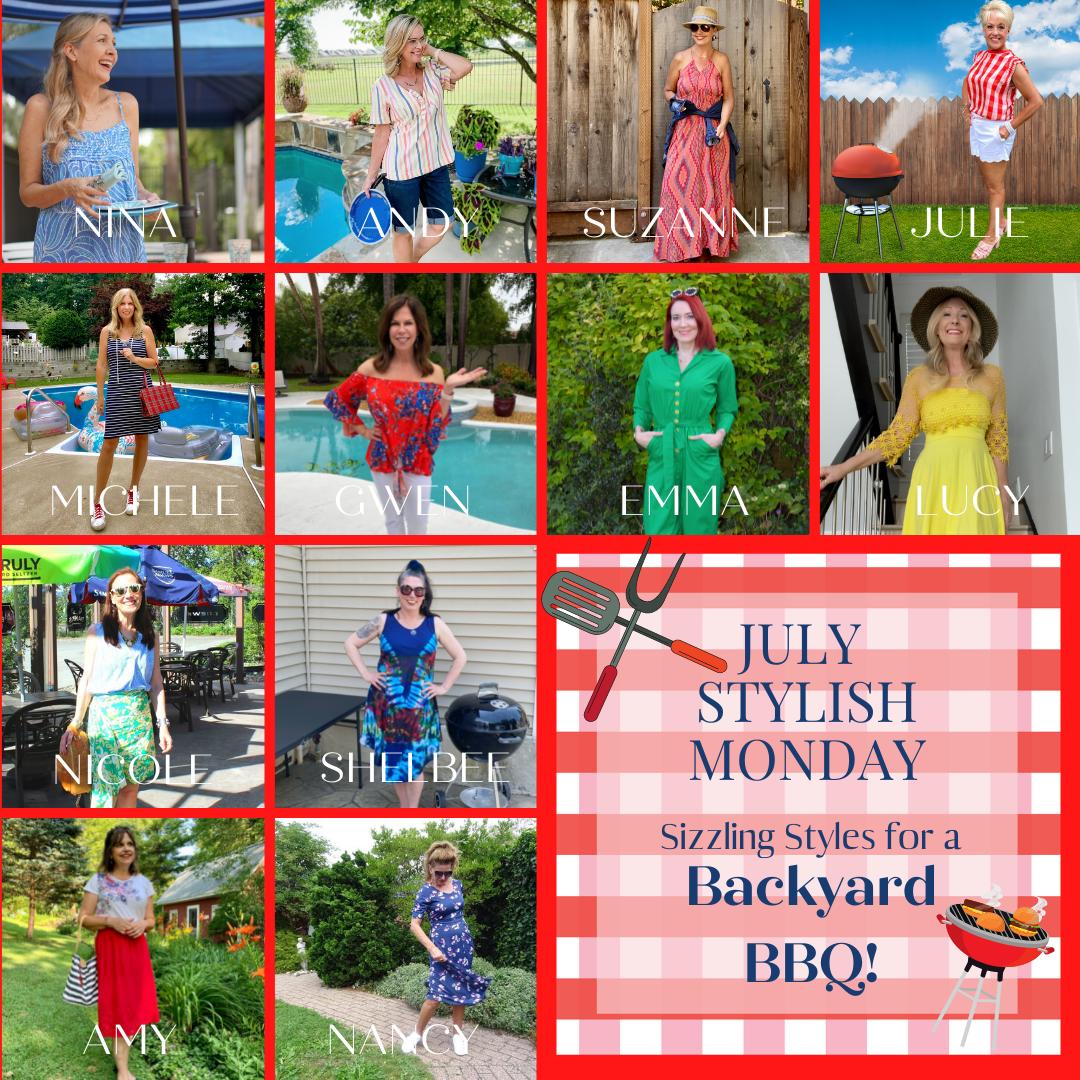 Sizzlin' Backyard BBQ Style - July's Stylish Monday Link Up collage