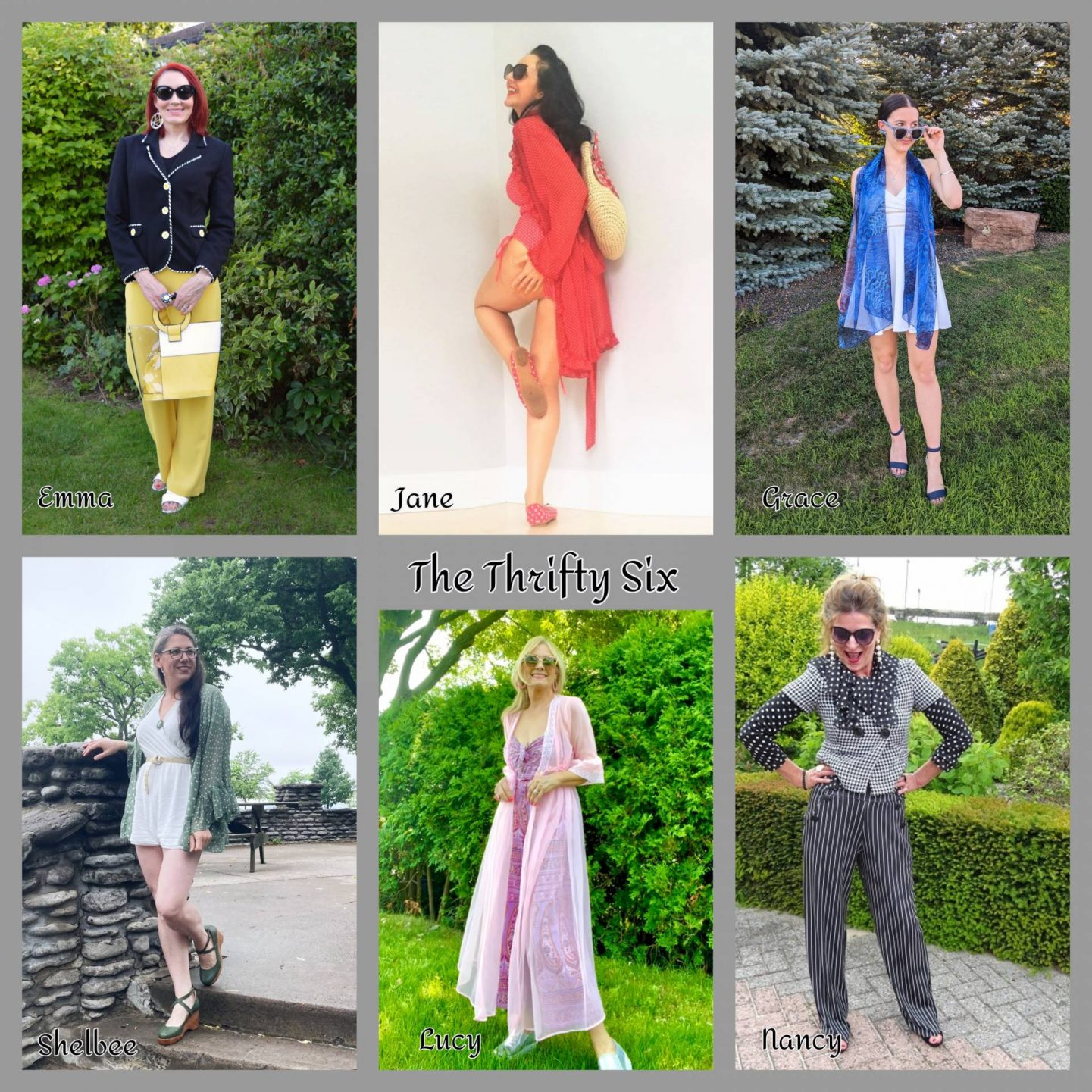 Creative Cover Ups - July's Thrifty Six collage