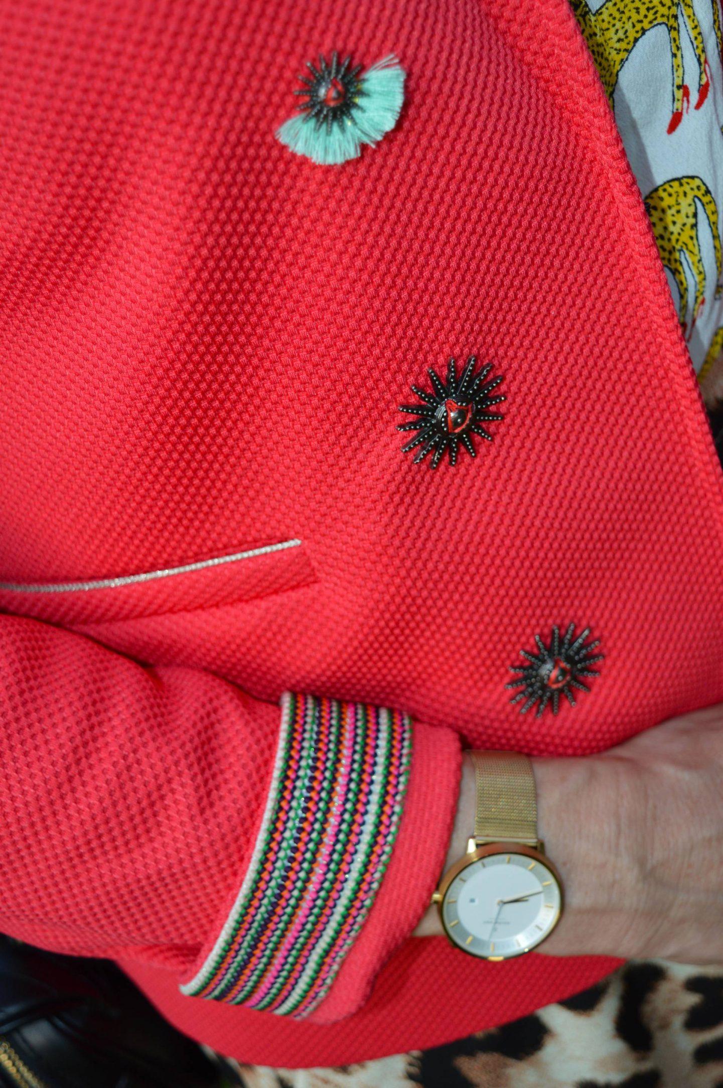 Pom Amsterdam raspberry jacket,