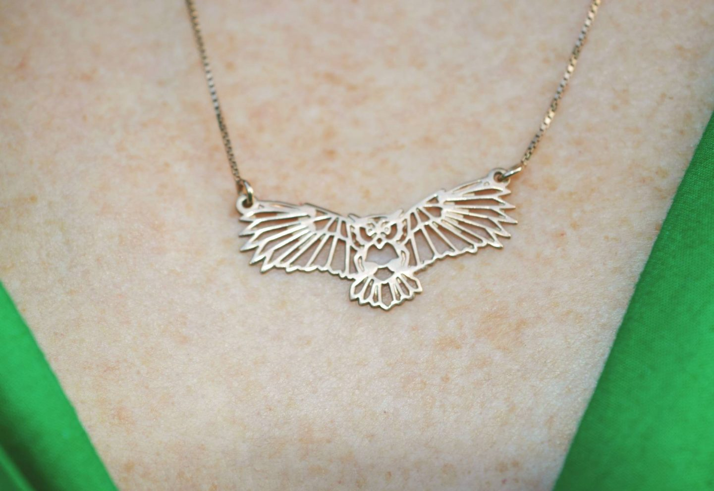 oNecklace gold owl necklace