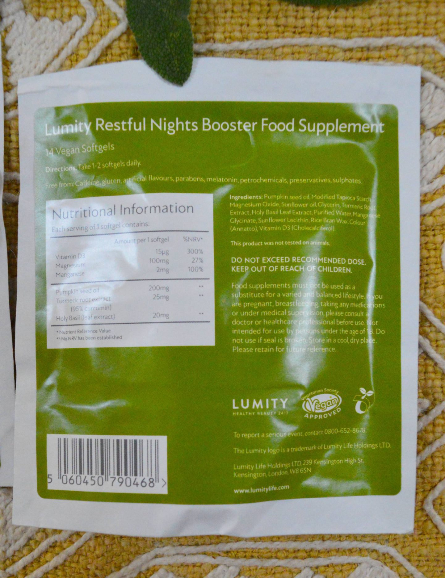 Lumity Restful Nights Booster Softgels Review