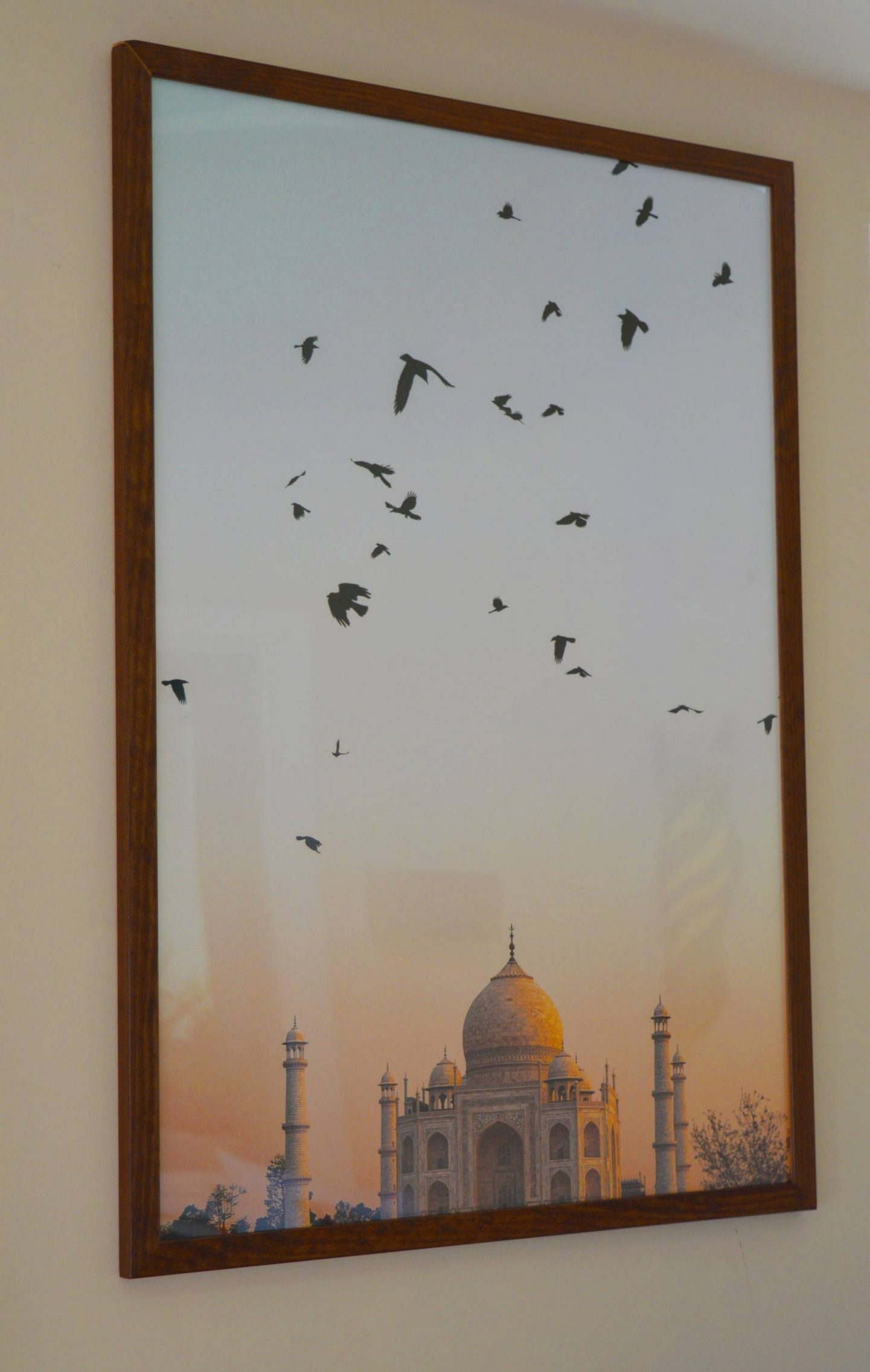 Budget-Friendly Wall Art to Transform Your Home, Poster Store Taj Mahal print in walnut frame