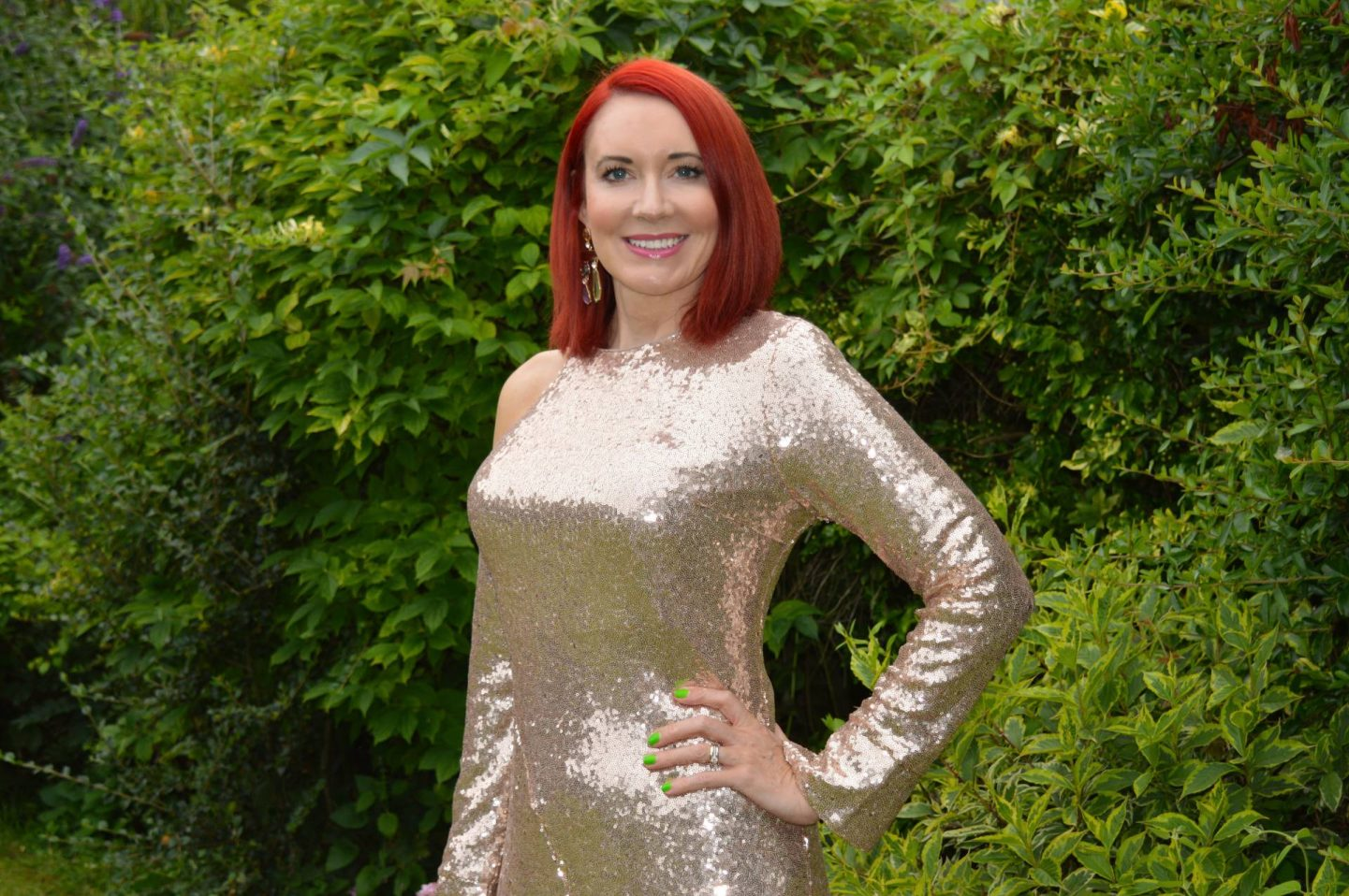 Fool's Gold - August's Thrifty Six, Kitri gold sequin dress