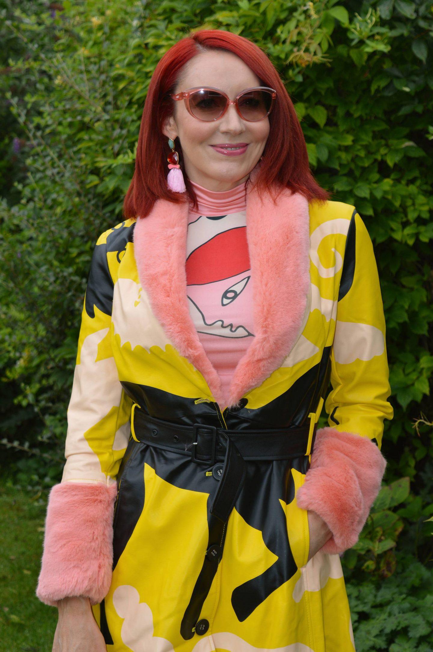 Miranda Makaroff faux fur trim coat