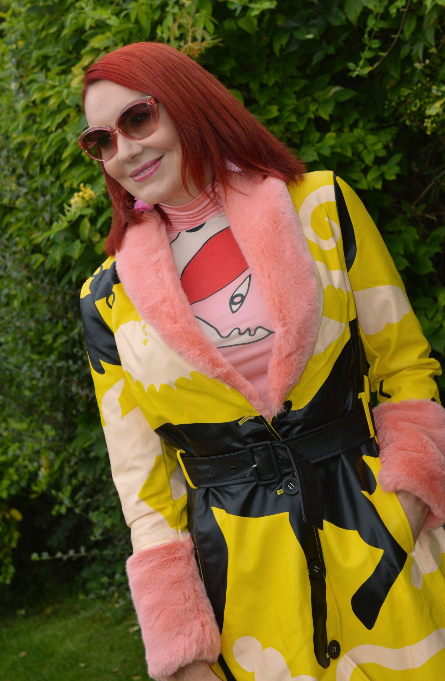 Desigual x Miranda Makaroff Coat and mesh top