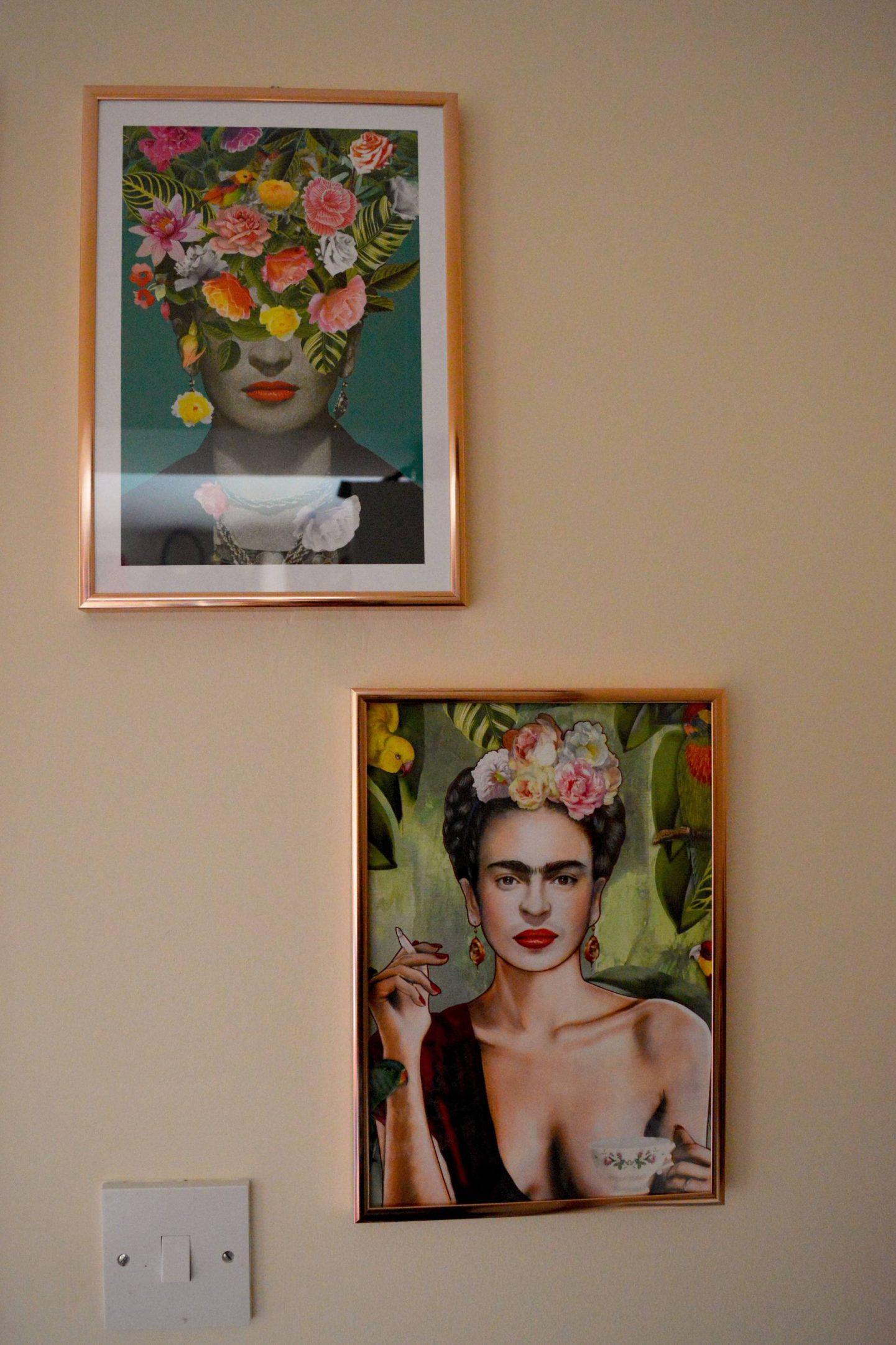 Poster Store Frida Kahlo prints in copper frames