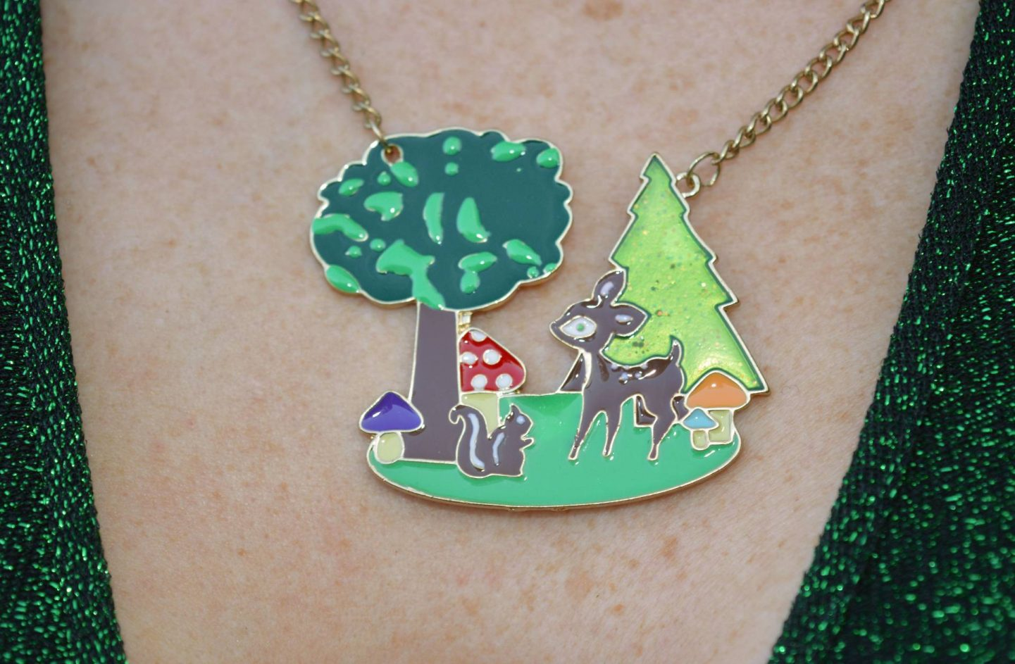 Betsey Johnson forest necklace