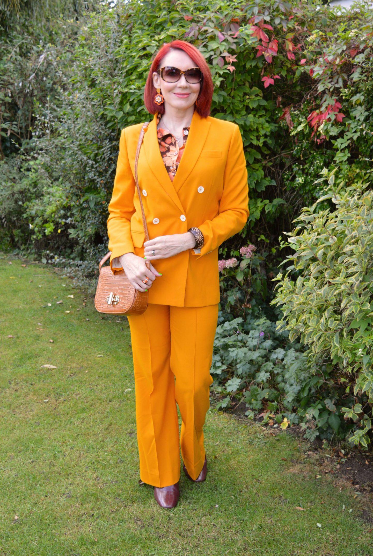 Marigold Trouser Suit and Vintage Shirt