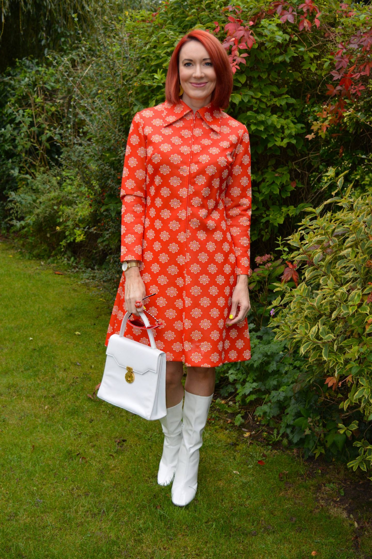 Vintage St Michael Dress and White Boots