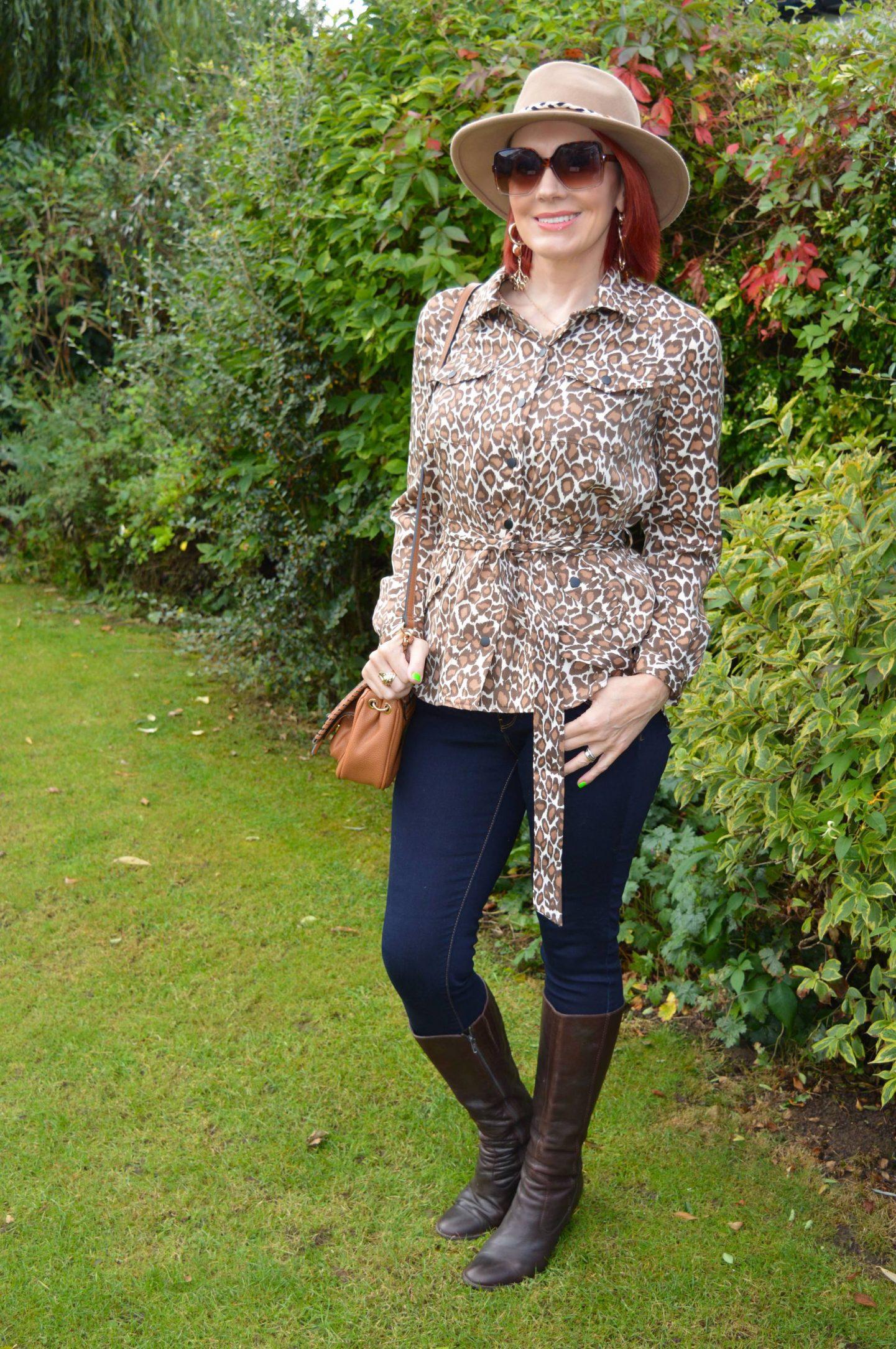 Scotch & Soda Leopard Print Shacket, Zara camel fedora